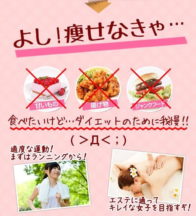 よし痩せなきゃ…食べたいけど…ダイエットのために我慢!!