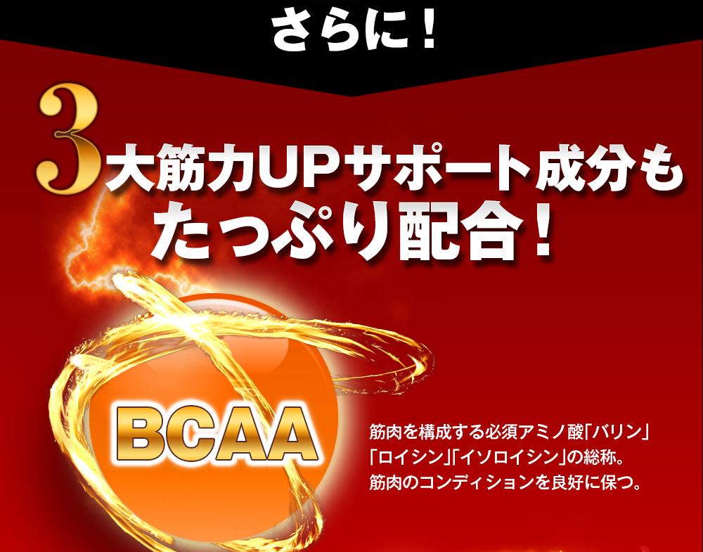 さらに!3大筋力UPサポート成分もたっぷり配合 BCAA