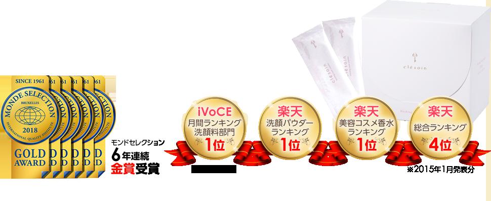 モンドセレクション5年連続金賞受賞