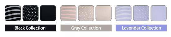 BlackCollection GrayCollection LavenderCollection
