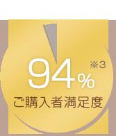 ご購入者満足度94%(※3)