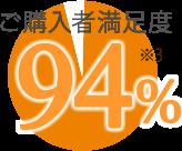 ご購入者満足度94% ※3