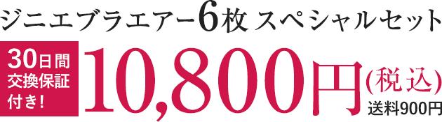 ジニエブラエアー6枚スペシャルセット 10,800円(税込) 送料900円 30日間交換保証付き!