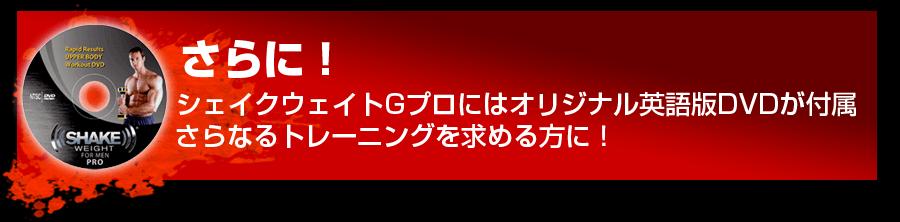 さらに!シェイクウェイトGプロにはオリジナル英語版DVDが付属さらなるトレーニングを求める方に!