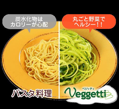 パスタ料理はカロリーが心配…ベジッティなら丸ごと野菜でヘルシー!