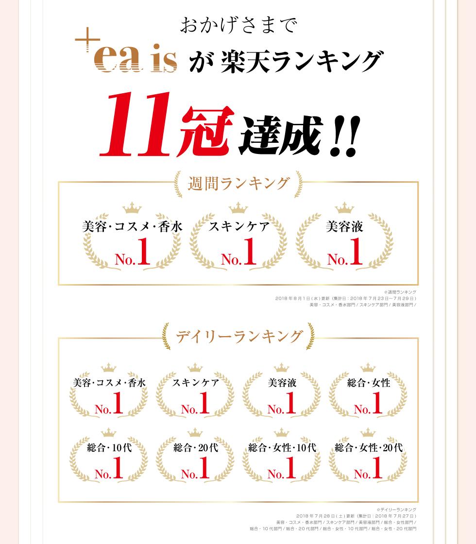 楽天ランキング11冠達成!